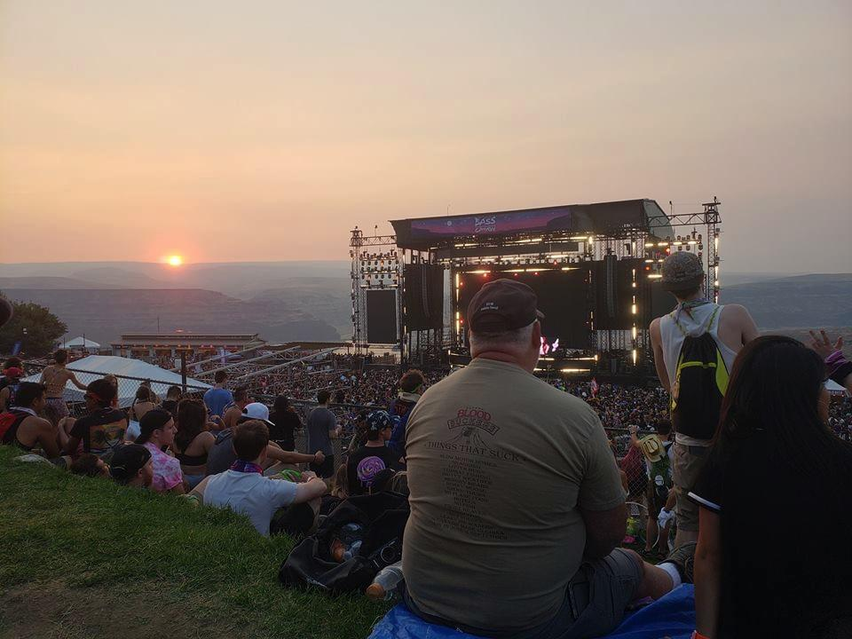 Overlooking the Gorge at Sunset During Bass Canyon