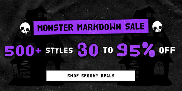 Monster Markdown Sale 10/16