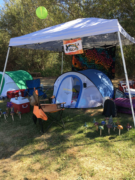 campsite setup at nocturnal wonderland