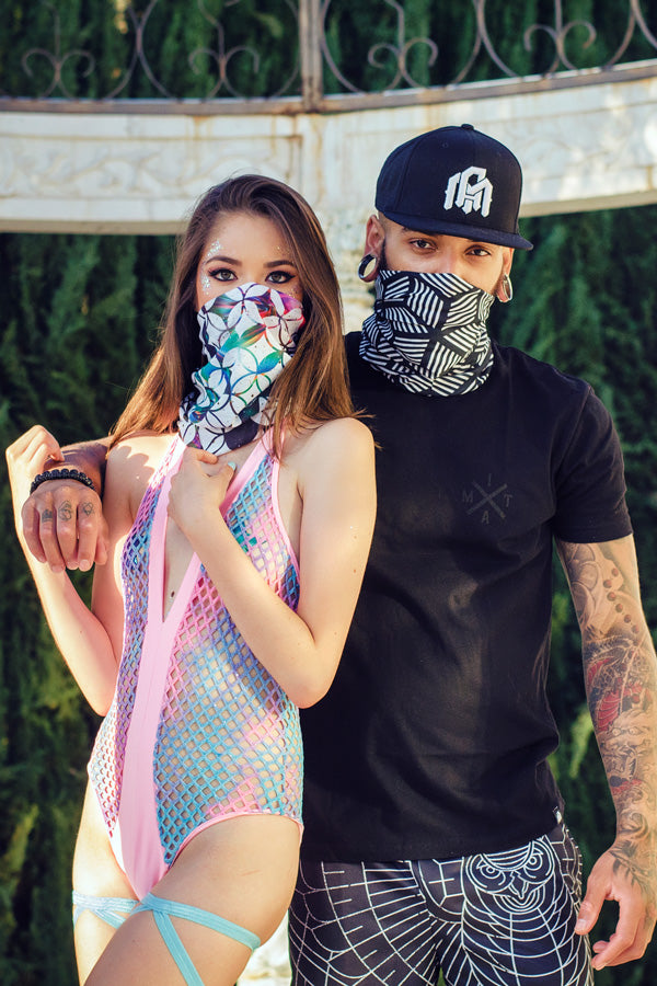 guy and girl rave outfit