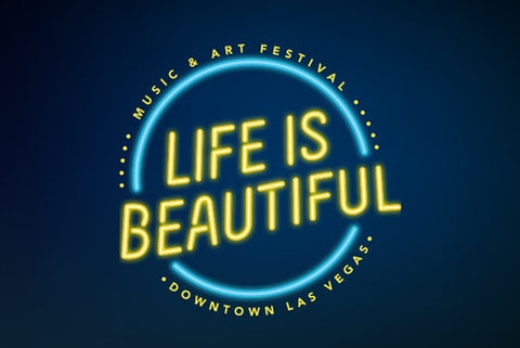 life is beautiful neon lights logo