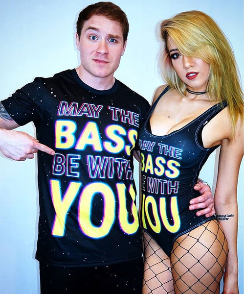 May the Bass Be With You Bodysuit and Men's Tee