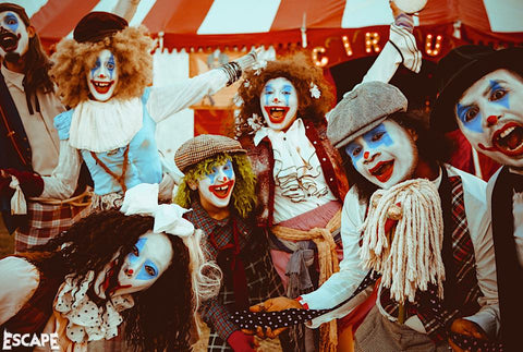 Performers at Escape Psycho Circus