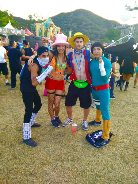 ravers in full cosplay outfits at nocturnal wonderland