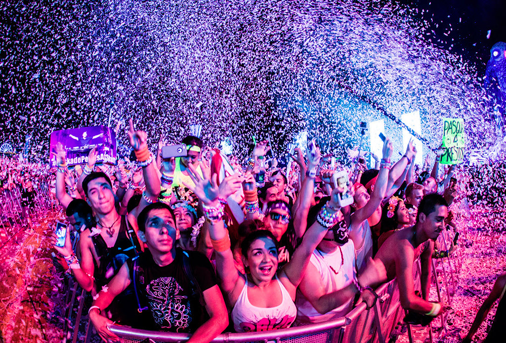 rave music festival crowd