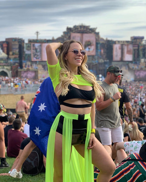 Neon Green Outfit at Tomorrowland