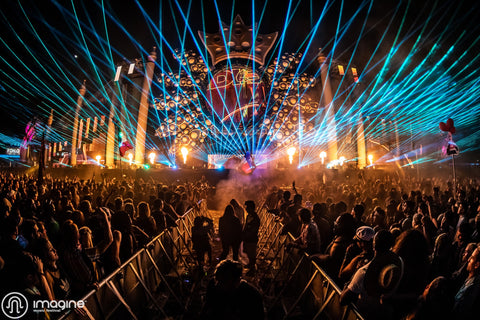 Imagine Music Festival Main Stage at Night