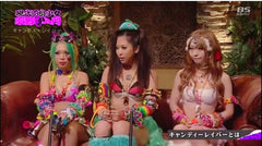 rave girls wearing matching festival outfits for interview