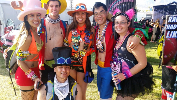 cosplay rave group meets up at nocturnal wonderland
