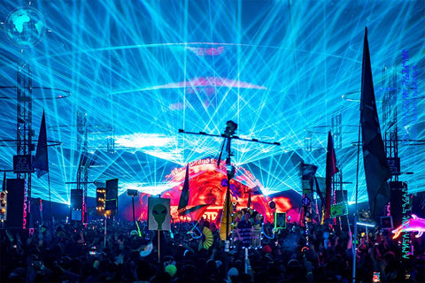 Lazers at Coutndown NYE