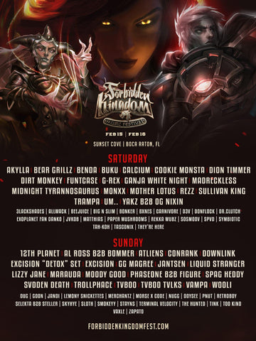 Forbidden Kingdom Day by Day Lineup