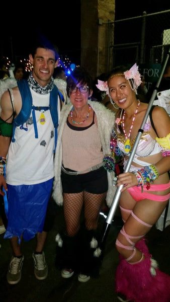 ravers meeting longtime festival goers