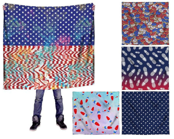 America Themed Blankets