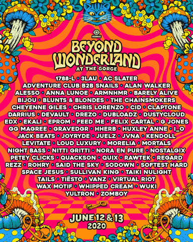 Beyond Wonderland at the Gorge Lineup