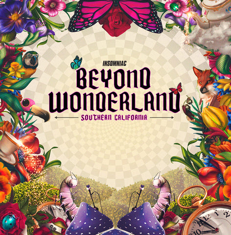 beyond wonderland colorful nature logo