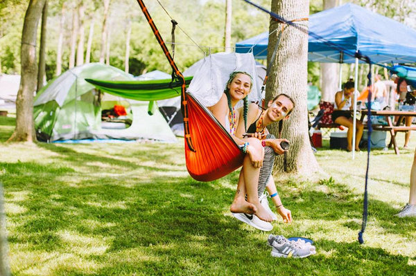 Camping at Ever After Festival With Hammocks