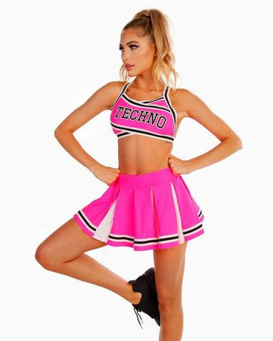 Pink Rave Cheerleader Outfit