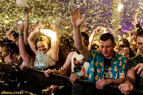 Confetti Falling at Resolution Festival