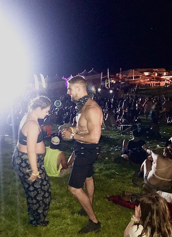 Couple Getting Engaged at Paradiso Festival At NIght
