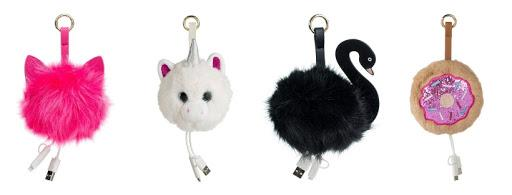Cute Fuzzy Portable Chargers