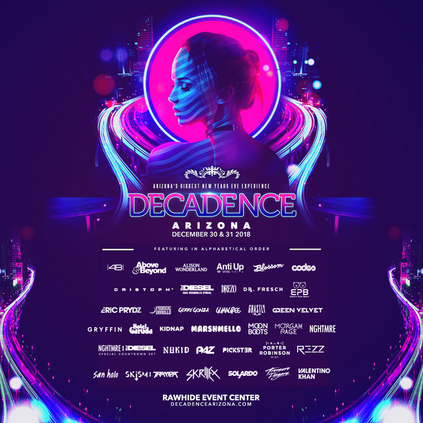 Decadence Arizona 2018 Lineup