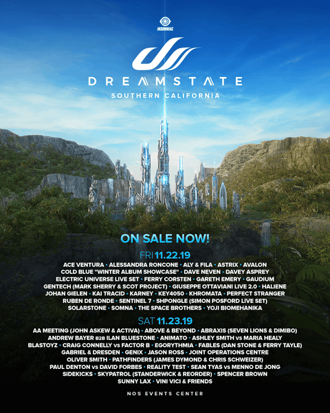 Dreamstate 2019 Lineup