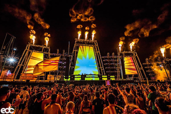EDC Las Vegas 2017 Stage with Pyrotechnics Fire
