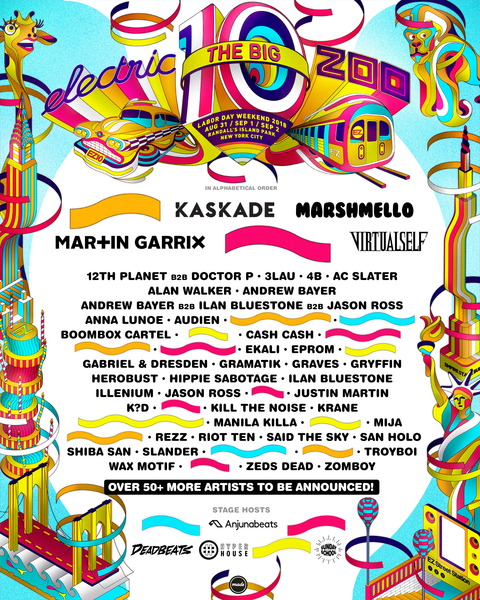 Electric Zoo 2018 line up