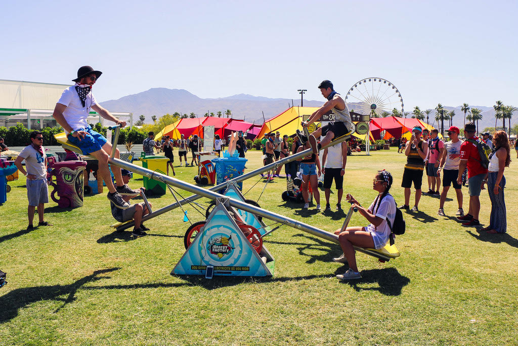 music festival camping activities at coachella