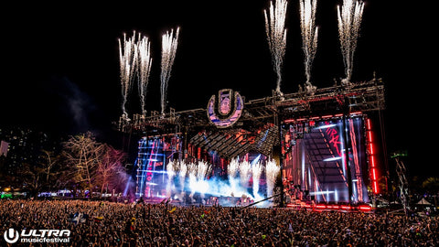 Fireworks at Ultra Music Festival Mainstage