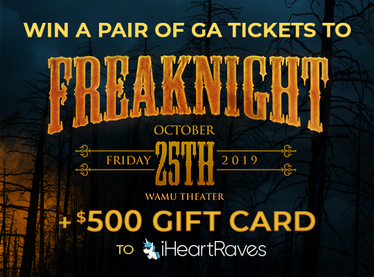 Win tickets to Freaknight and a $500 gift card to iHeartRaves