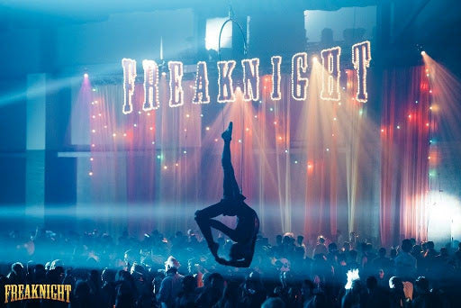Acrobatic Performer at Freaknight Music Festival in Seattle Washington