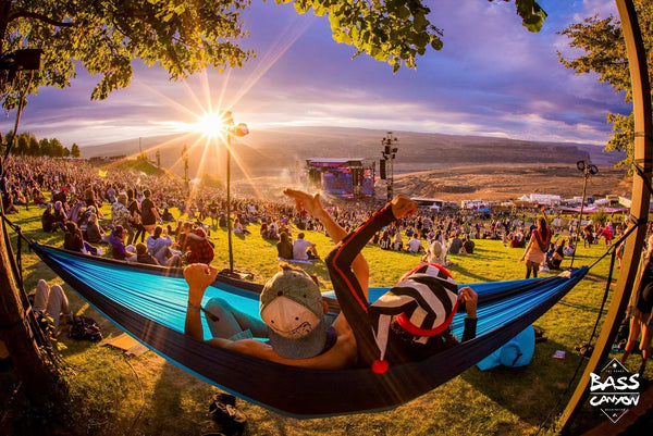 Hammock at the Gorge during Bass Canyon