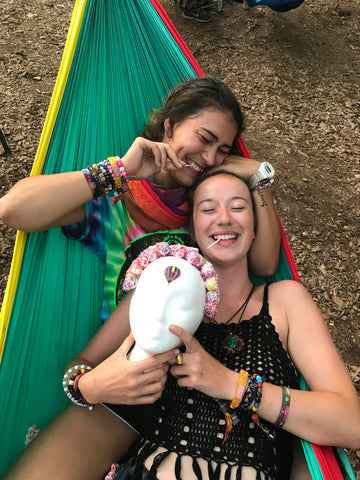 Hammocks at electric forest