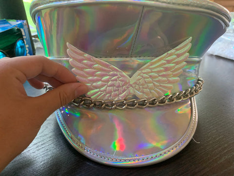 Holographic Captain's Hat With Wings