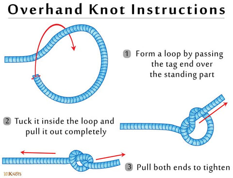 overhand knot step by step instructions