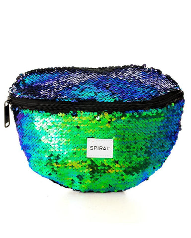 Emerald sequins fanny pack