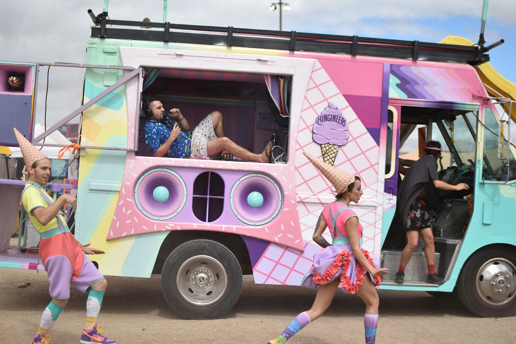 The Fungineers' Ice Cream Truck at Lightning in a Bottle Music Festival