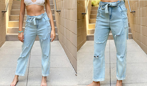 Make Your Own Distressed Denim Jeans