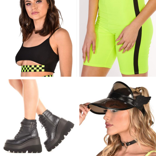 Neon Outfit with Biker Chick Vibes