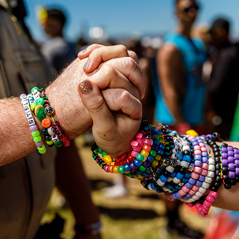 Kandi bracelets at the Gorge