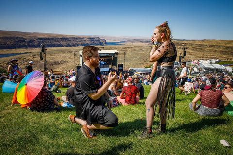 Proposal at Paradiso Festival Overlooking the Gorge