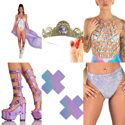 Purple Pastel Rave Outfit