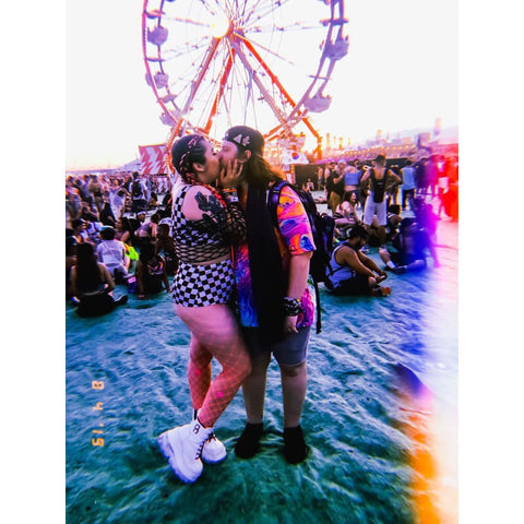 Raver Couple kissing