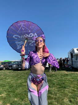 purple rave outfit