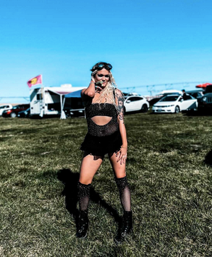 black rave outfit