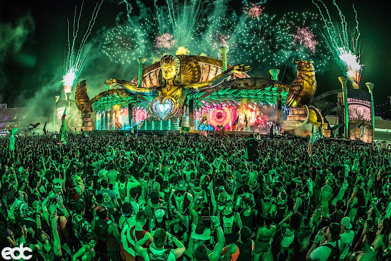 stage production at edc las vegas rave