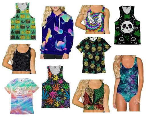 420 stoner weed marijuana ganja rave crop top tank tops