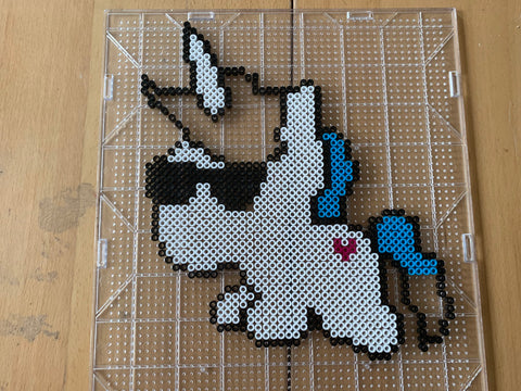 Unicorn Perler step by step instructions