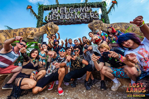 Welcome Headbangers Sign at Lost Lands